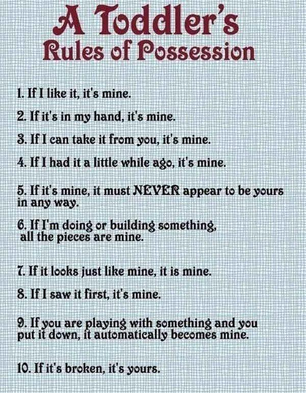 rules of possesion
