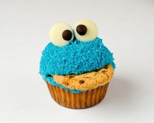 Cookie Monster Cupcakes: