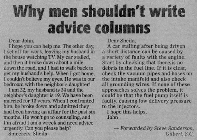 advice column dear john