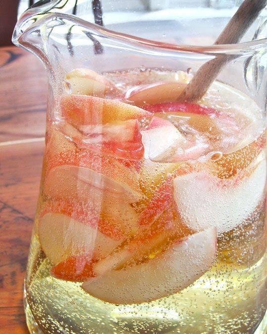 Sparkling Moscato Peach Sangria