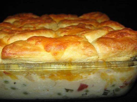 recipes creamed chicken & biscuit casserole