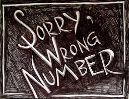 sorry wrong #