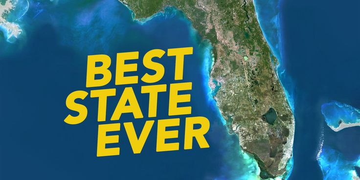 State of Florida, United States, True Colour Satellite Image