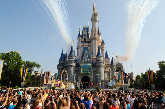 LAKE BUENA VISTA, FL - MAY 11:  Merida's royal celebration at the Magic Kingdom at Walt Disney World Resort in conjunction with Mother's Day festivities on May 11, 2013 in Lake Buena Vista, Florida.  (Photo by Gerardo Mora/WireImage)