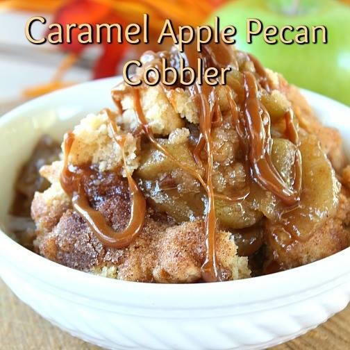 ... http://www.greatgrubdelicioustreats.com/caramel-apple-pecan-cobbler